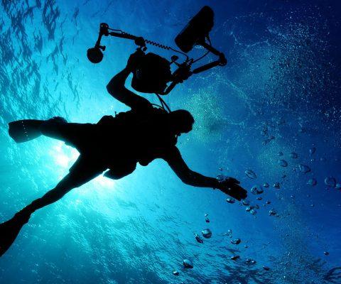 ถ่ายทำวีดีโอใต้น้ำ